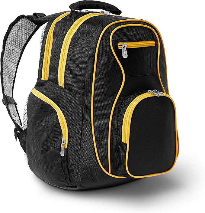 Amazon Com Ncaa Arizona State Sun Devils Colored Trim Premium Laptop Backpack Sports Outdoors