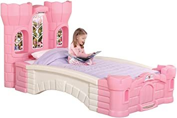 Amazoncom Step2 Princess Palace Twin Bed for Girls Kids Durable