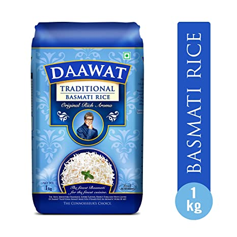 Daawat Traditional Basmati Rice, 1kg