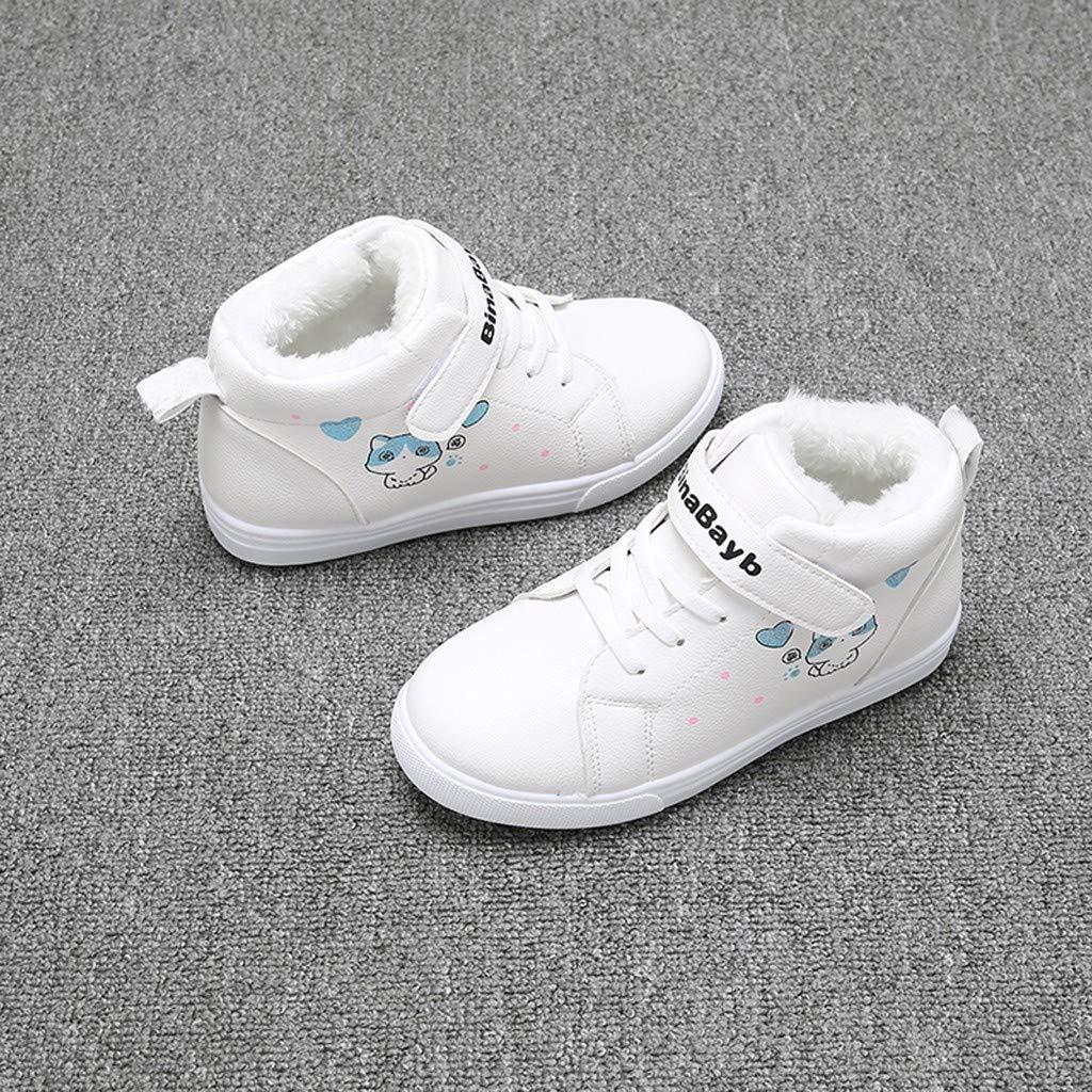 Zapatos para Ni/ñas Peque/ñas Botas Ni/ños Moda Ni/ños Ni/ñas Gruesa Nieve Zapatos Casuales para Ni/ños Botines Impermeables Botas De Nieve Gruesas De Invierno