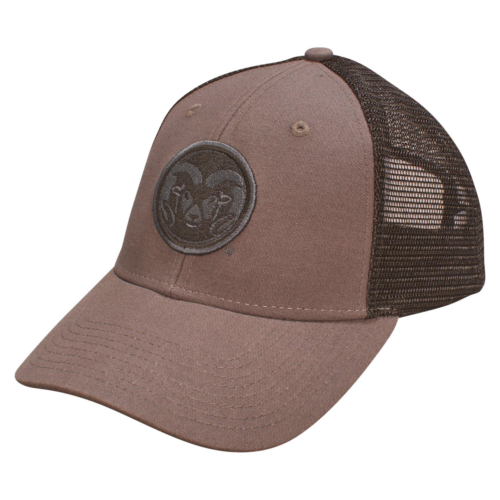 Ouray Sportswear NCAA Colorado State Rams Industrial Canvas Mesh Cap ... 9f4a17133