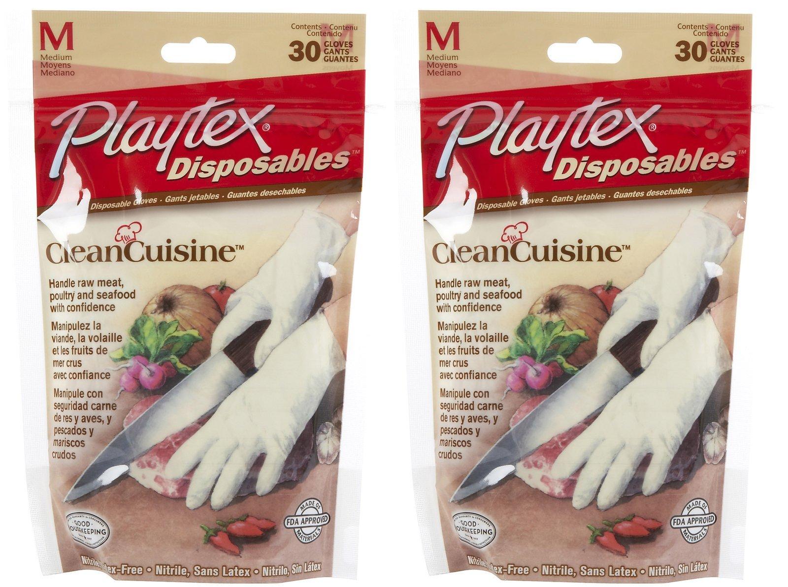 Playtex Disposable Food Prep Gloves - 30 ct - 2 pk