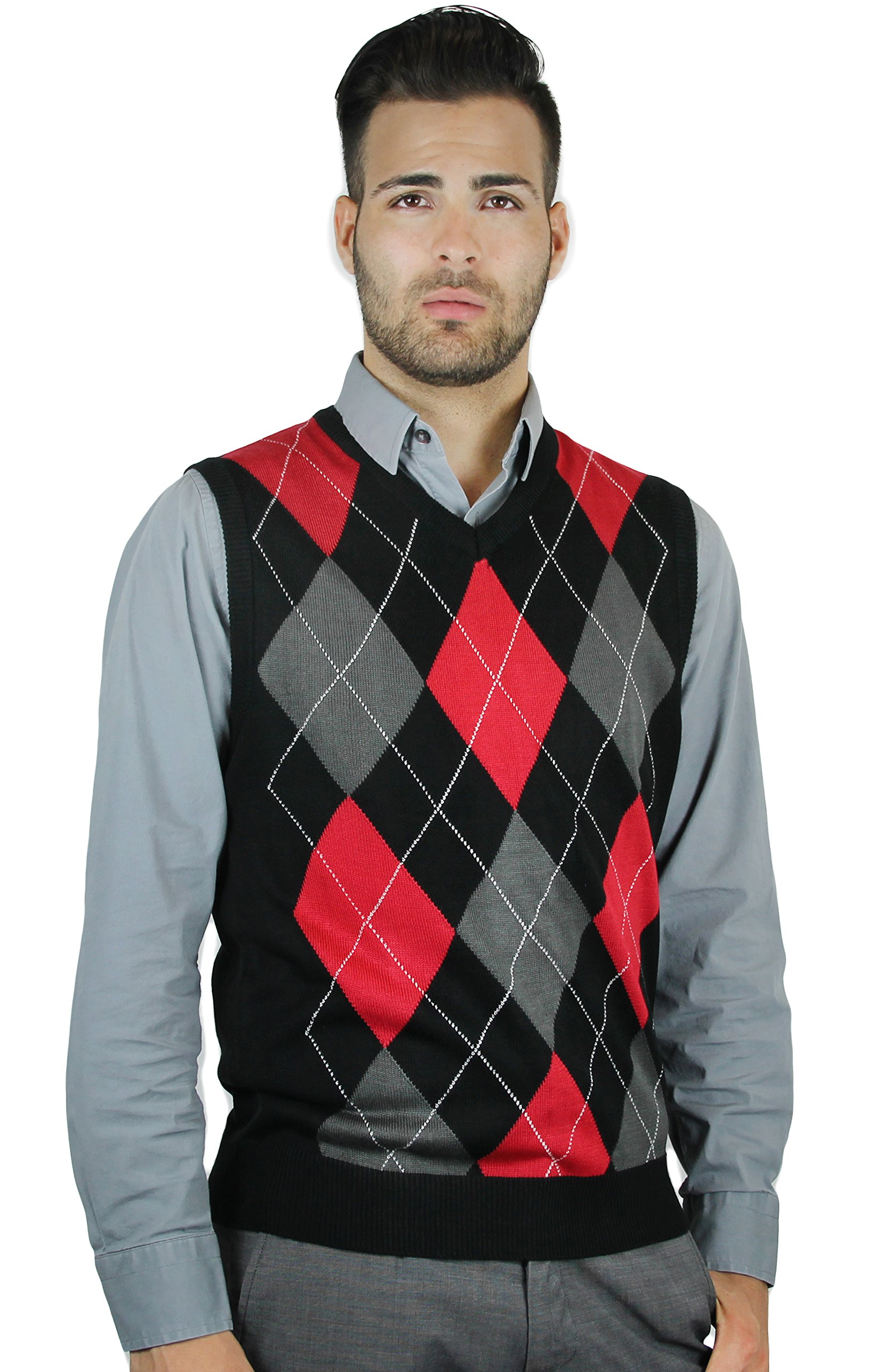 Blue Ocean Argyle Sweater Vest-3X-Large