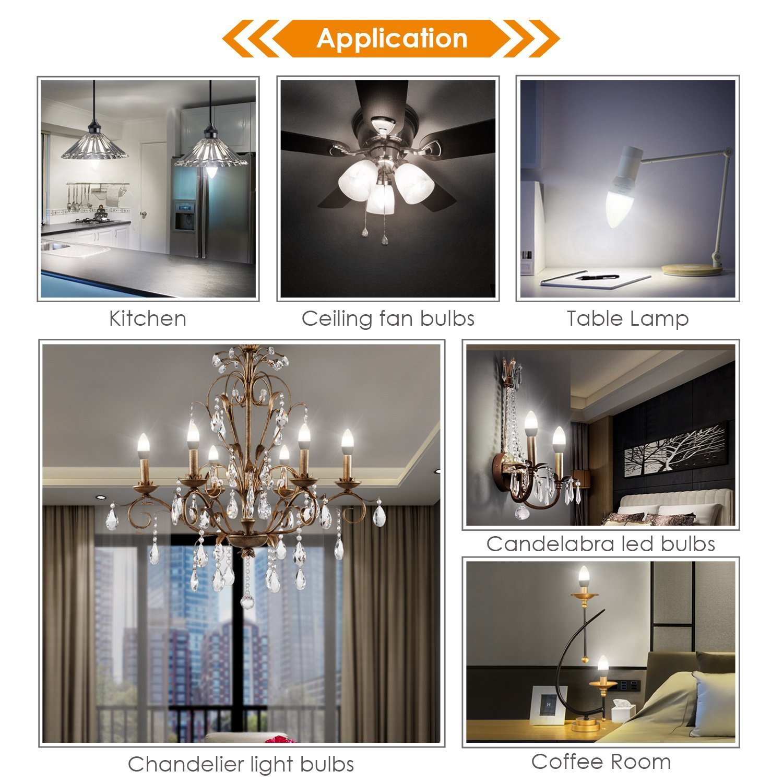 Albrillo E12 LED Bulbs Candelabra Light Bulbs 40 Watt Equivalent