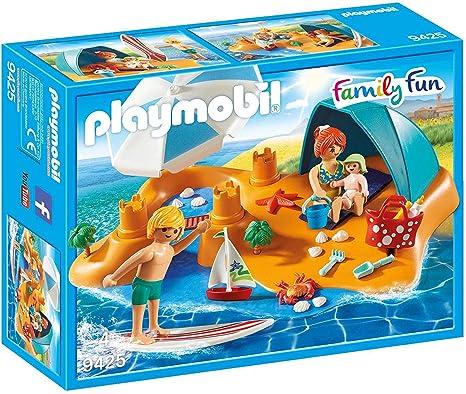 PLAYMOBIL Family Fun Familia en la Playa, A partir de 4 años (9425): Playmobil: Amazon.es: Juguetes y juegos