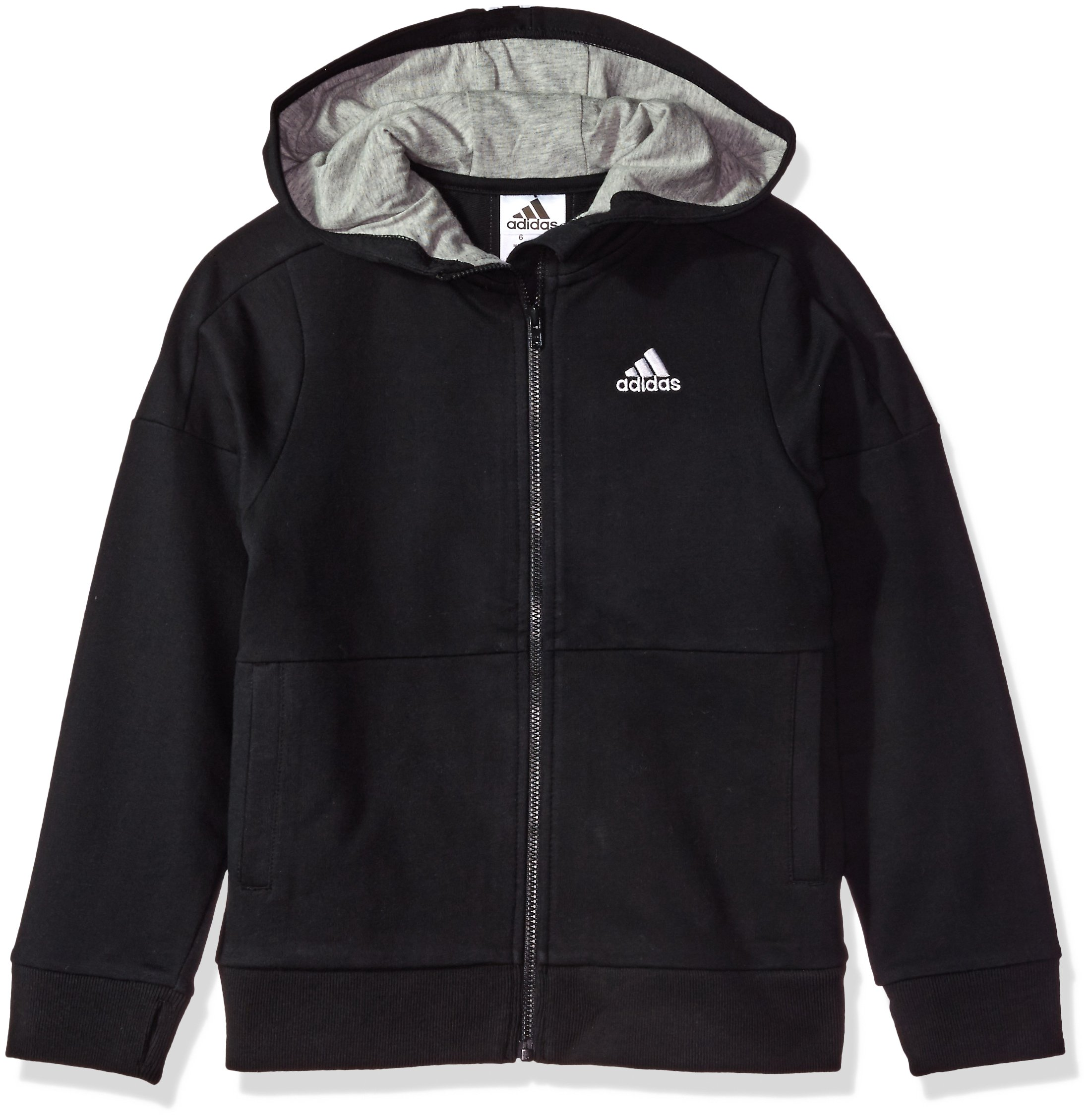 adidas Boys' Big Athletics Jacket, Black, M