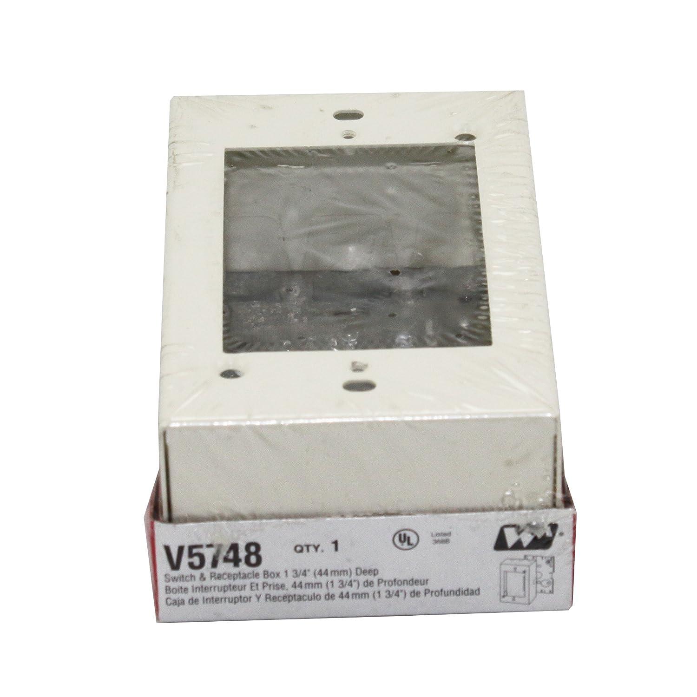 Wiremold Legrand V5748 Raceway Deep Switch & Receptacle Box (1 Gang ...