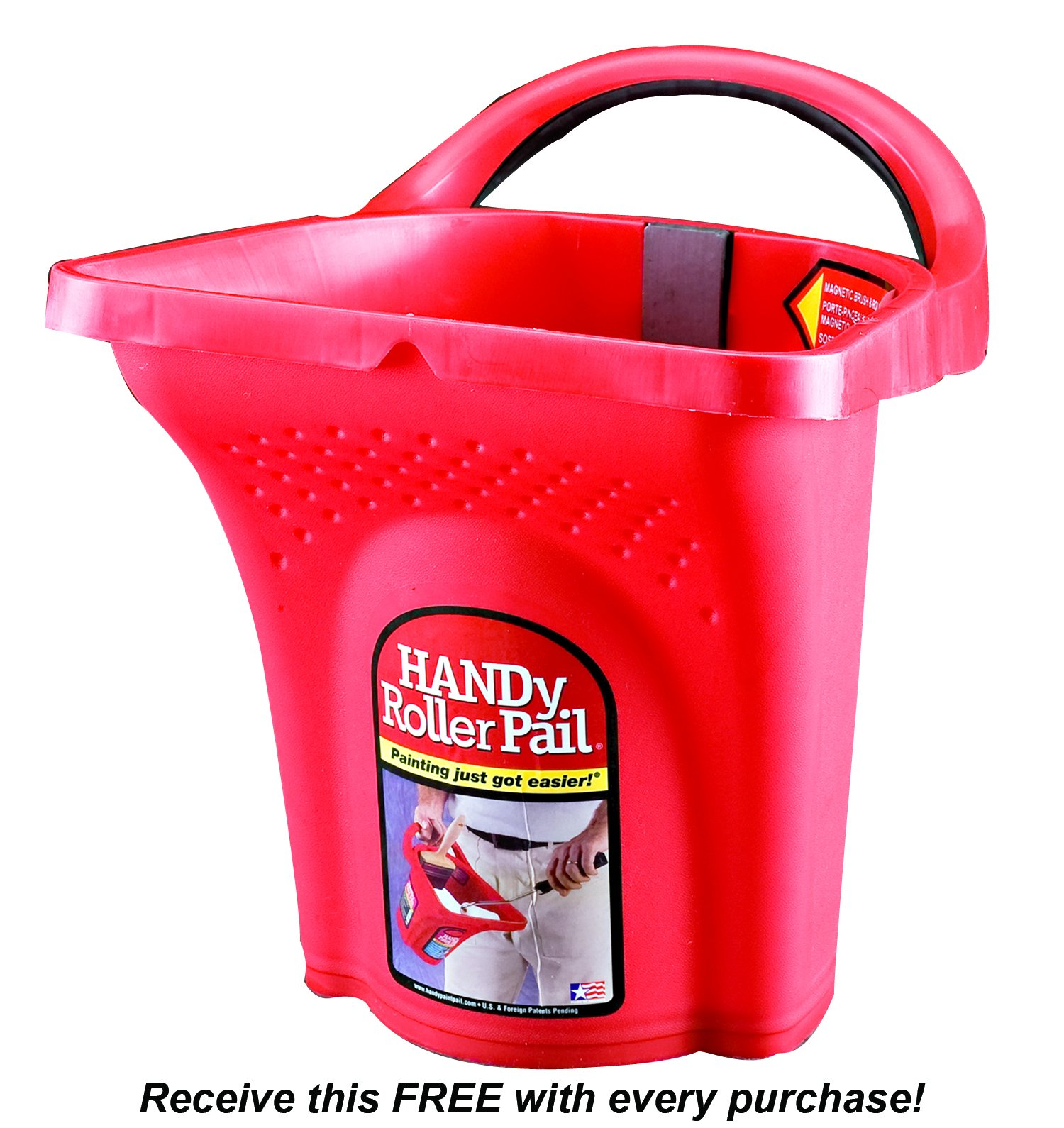 Handy Roller Pail Liners - Bulk 100 Pack + Free Handy Roller Pail by Handy Paint Pail