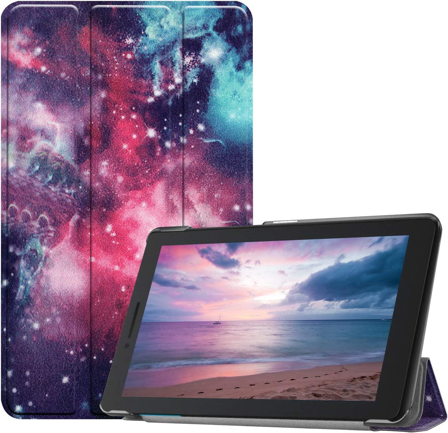 Slim Case for Lenovo Tab E8 TB-8304F, Gylint Smart Case Trifold Stand for Lenovo Tab E8 TB-8304F 8 Inch Tablet (Outer Space)