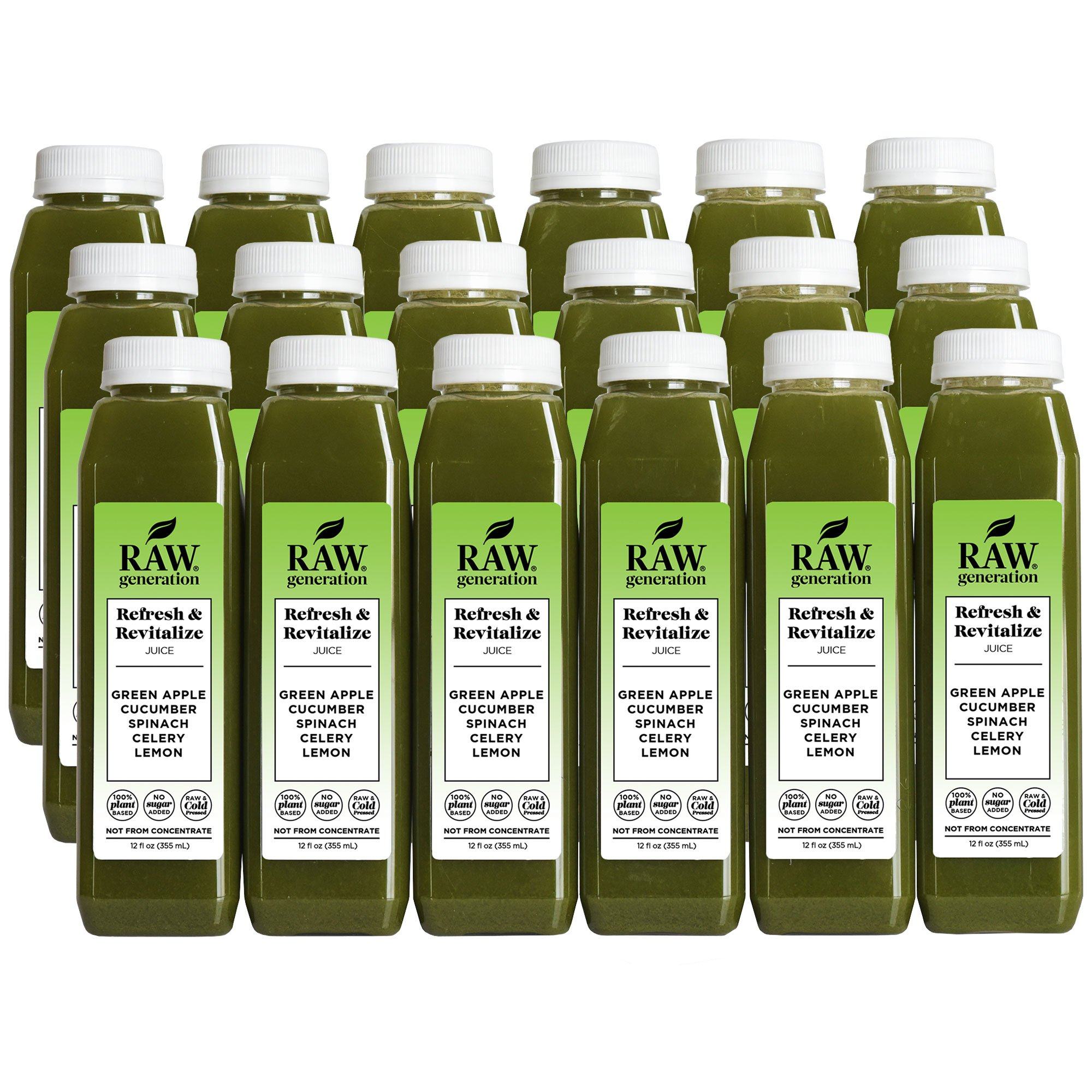 Raw Generation Refresh & Revitalize Juice - Healthiest Way to Lose Weight & Stay Strong - Plant-Based Protein Smoothies & Juices - FREE Shipping (18)