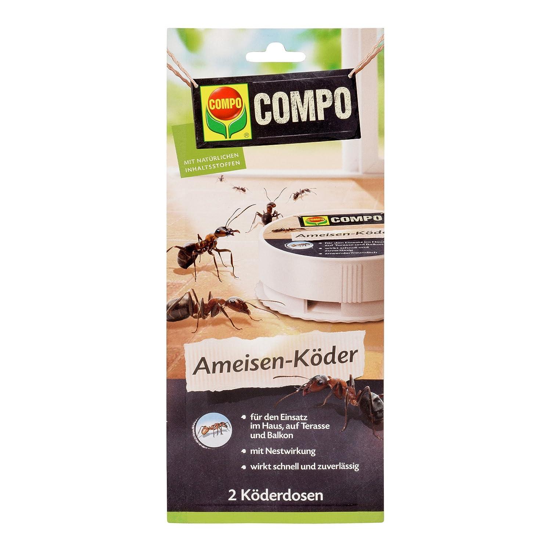 COMPO Ameisen-Köder N, Bekämpfung von Ameisen im Haus, auf Terrasse und Balkon, 2 Köderdosen COMPO Ameisen-Köder N 2 Köderdosen 20775