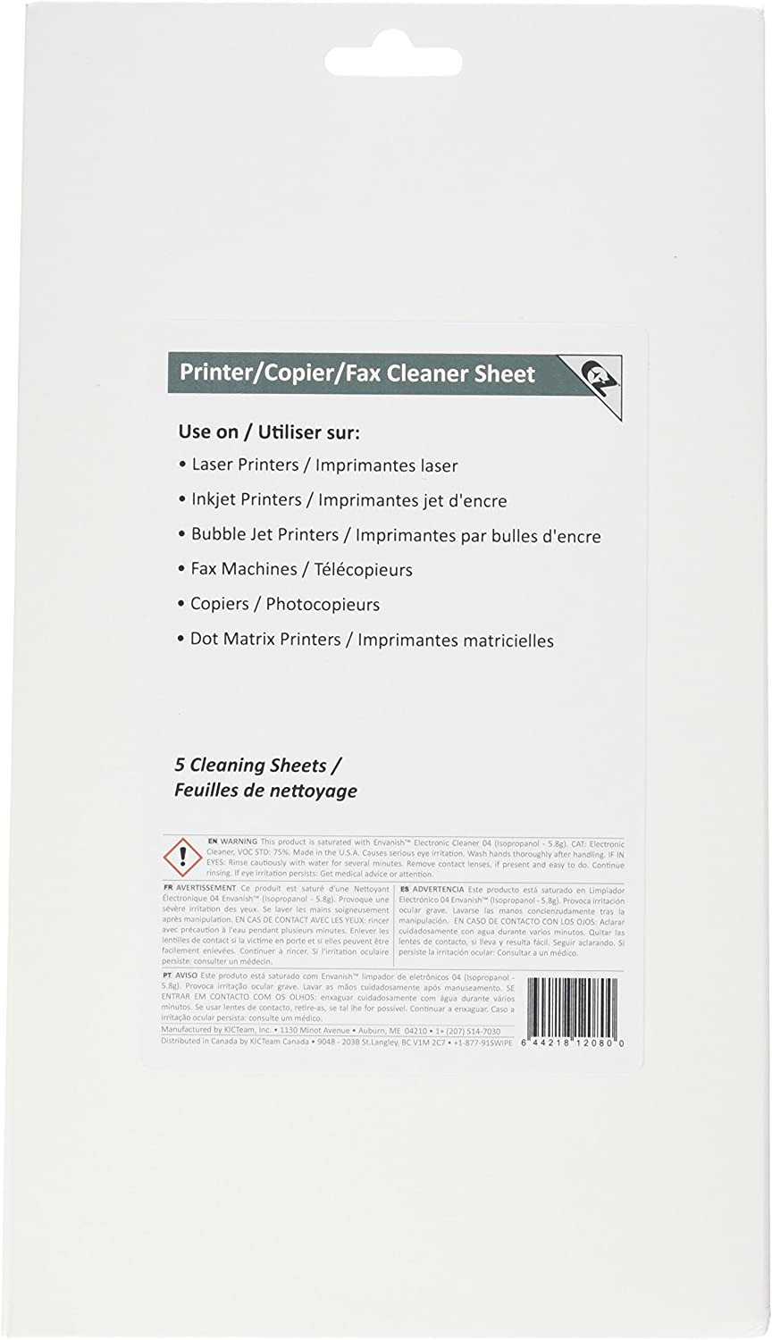 3K2-PCFF5 Three Pack EZ Printer/Copier/Fax Cleaner Sheet (15) by Waffletechnology