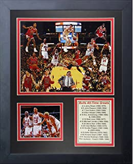 Legends Never Die Chicago Bulls All Time Greats Framed Photo Collage