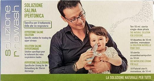 10 opinioni per Soluzione salina ipertonica 2,5% Rinowash- 10 fiale da 10 ml
