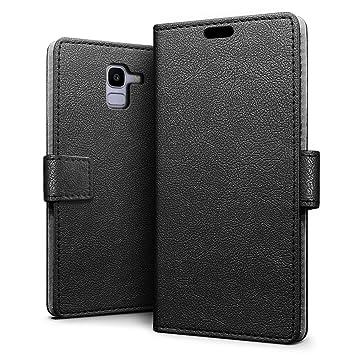 SLEO Funda para Samsung Galaxy J6 2018 Carcasa Libro de Cuero Ultra Delgado Billetera Cartera [Ranuras de Tarjeta,Soporte Plegable,Cierre Magnético] ...