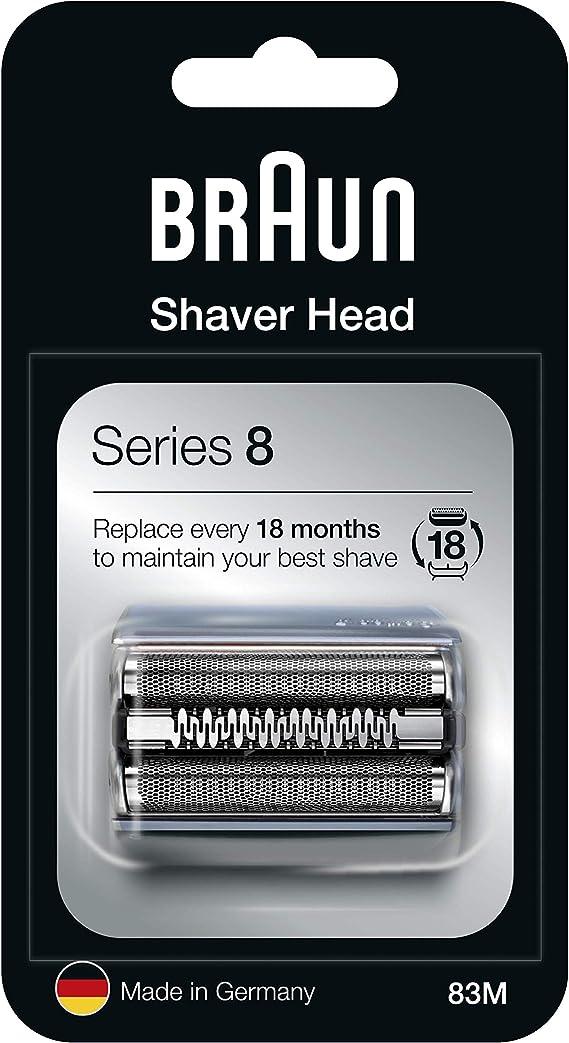 Braun Series 8 83M Cabezal de Recambio para Afeitadora Eléctrica, Compatible con las Afeitadoras Series 8, Plata: Amazon.es: Salud y cuidado personal