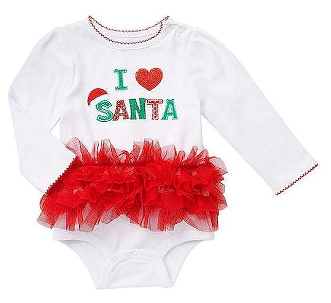 0e01188ed532 Koala Kids Baby Toddler Girls I Heart / Love Santa Tutu Dress Up Bodysuit  Outfit (