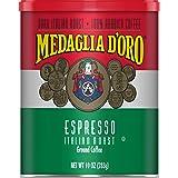 Medaglia D'Oro Italian Roast Espresso Ground Coffee, 10 Ounces