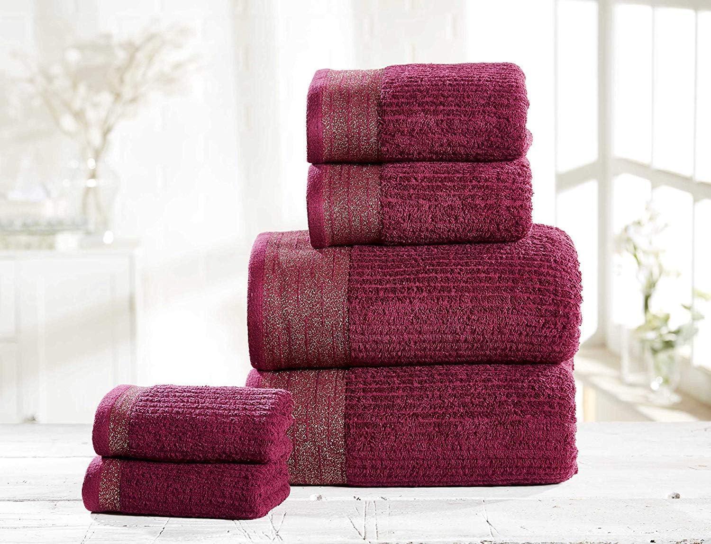 Rapport Mayfair - Juego de Toallas de baño (100% algodón Peinado, 6 Unidades, 30 x 30 cm, 50 x 85 cm, 2 Toallas de baño de 70 x 120 cm): Amazon.es: Hogar