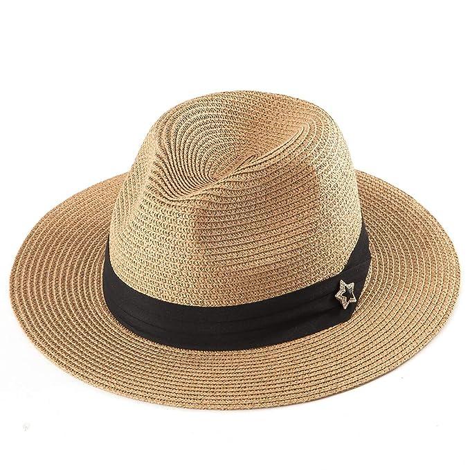 Amazon.com: Sombreros de Paja Fedora para Mujer - Sombrero ...