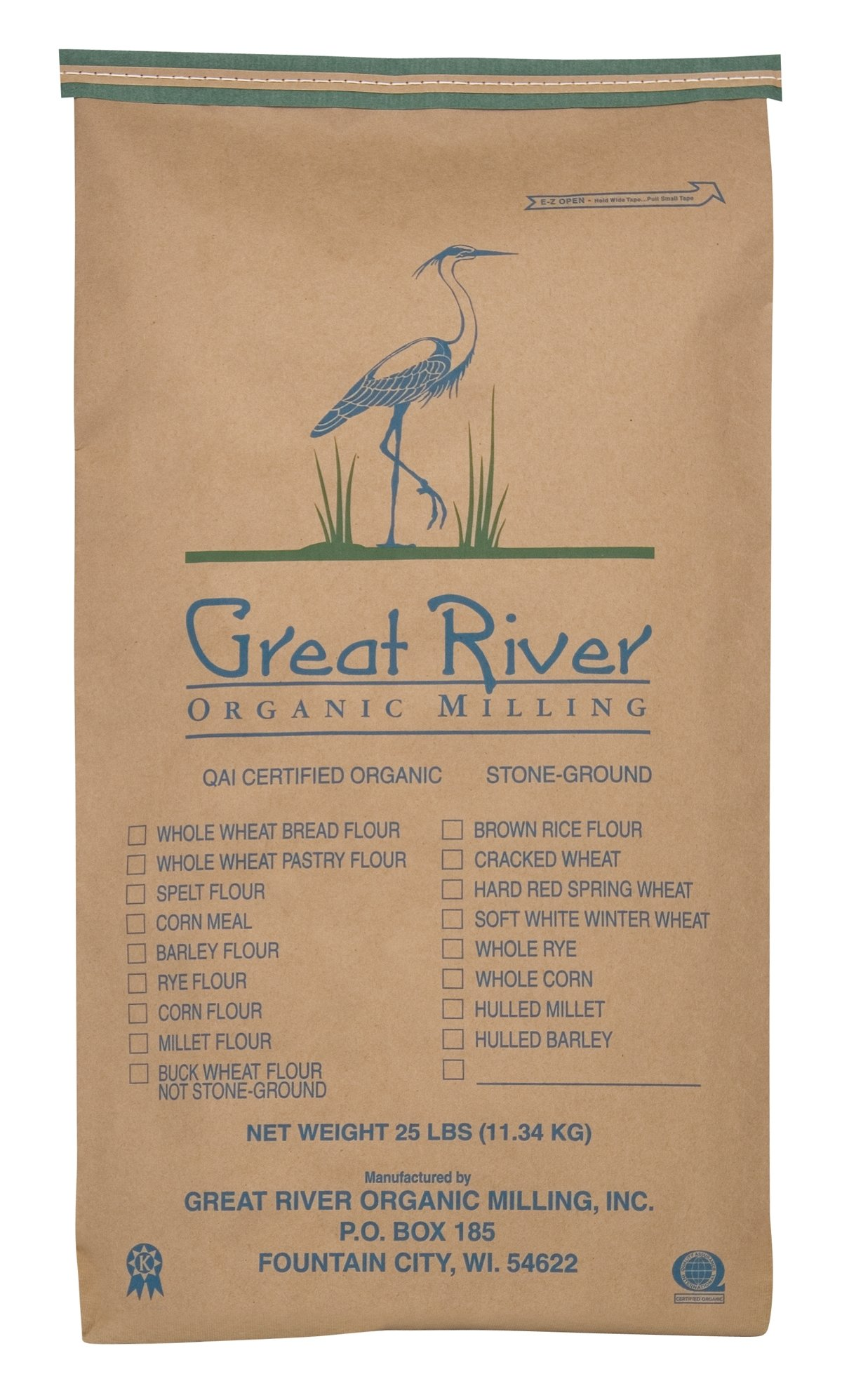 Great River Organic Milling White Rice Flour, 25 Pound