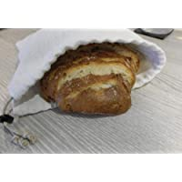 sac à pain en chanvre ancien pochon sac à vrac pour boule de campagne pain coupé zéro déchet cordon chanvre naturel