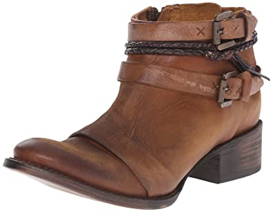 Freebird Women's Simba Ankle Bootie, Cognac, ...