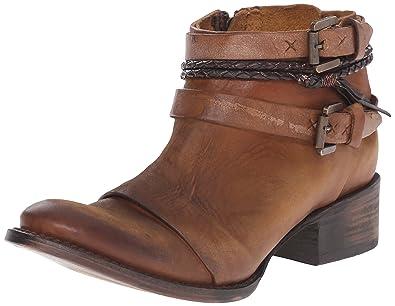 Freebird Womens Simba Ankle Bootie       Cognac