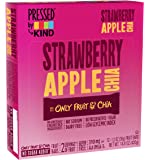 Pressed by KIND Fruit Bars, Strawberry Apple Chia, No Sugar Added, Non GMO, Gluten Free, 1.2oz, 12 Count