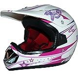 Protectwear Niños Casco Cross MaX Racing rosa brillante V310-Chica Tamaño S (juventud XL