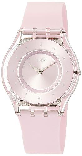 Swatch Reloj Analógico para Mujer de Cuarzo con Correa en Silicona SFE111: Amazon.es: Relojes