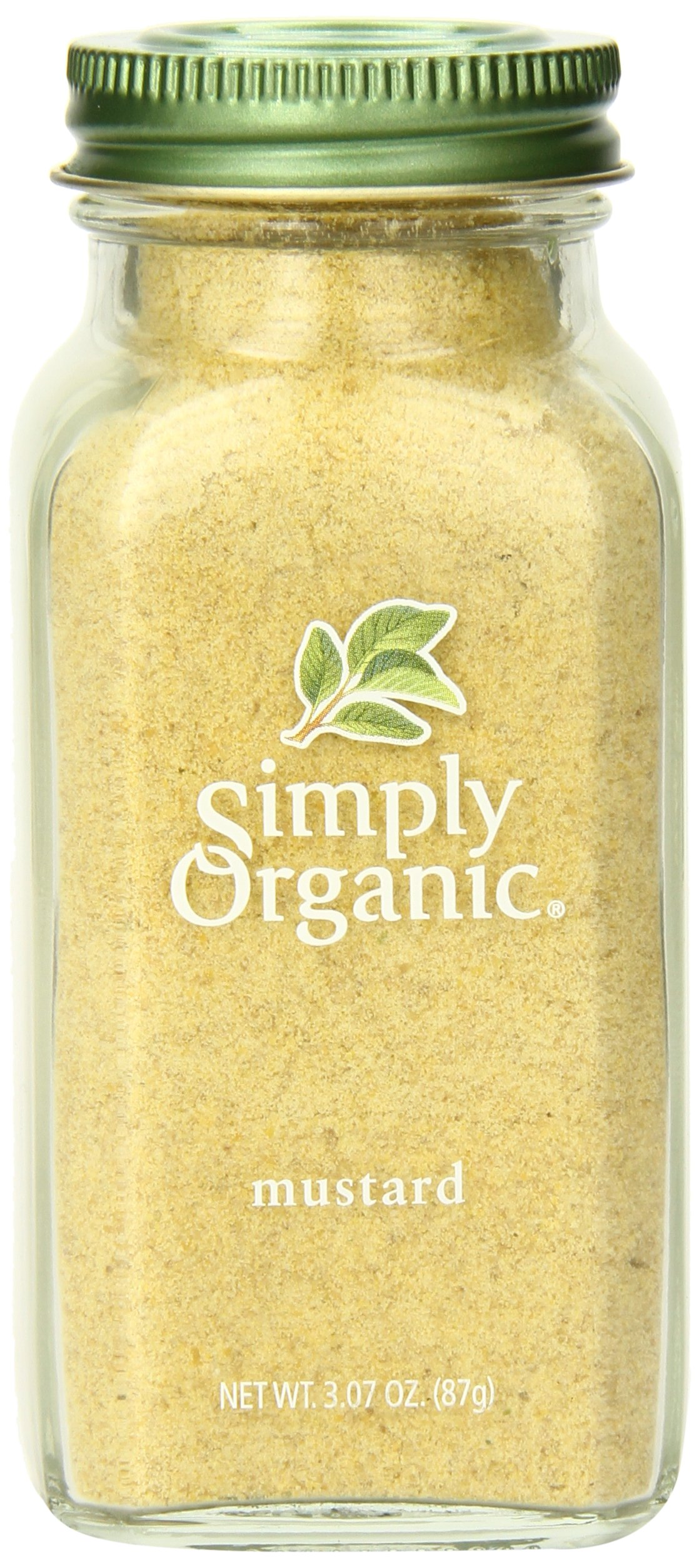Simply Organic Mustard Seed Ground Certified Organic, 3.07-Ounce Container