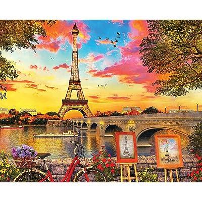 Springbok 350 Piece Jigsaw Puzzle Paris Sunset: Toys & Games