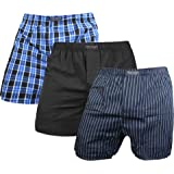 3 x Herren Web Boxershorts aus reiner Baumwolle