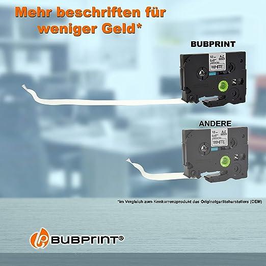 SET 7 Schriftband für Brother P-Touch PT E100 1010 1090 1230 H100R H300 1000 D20