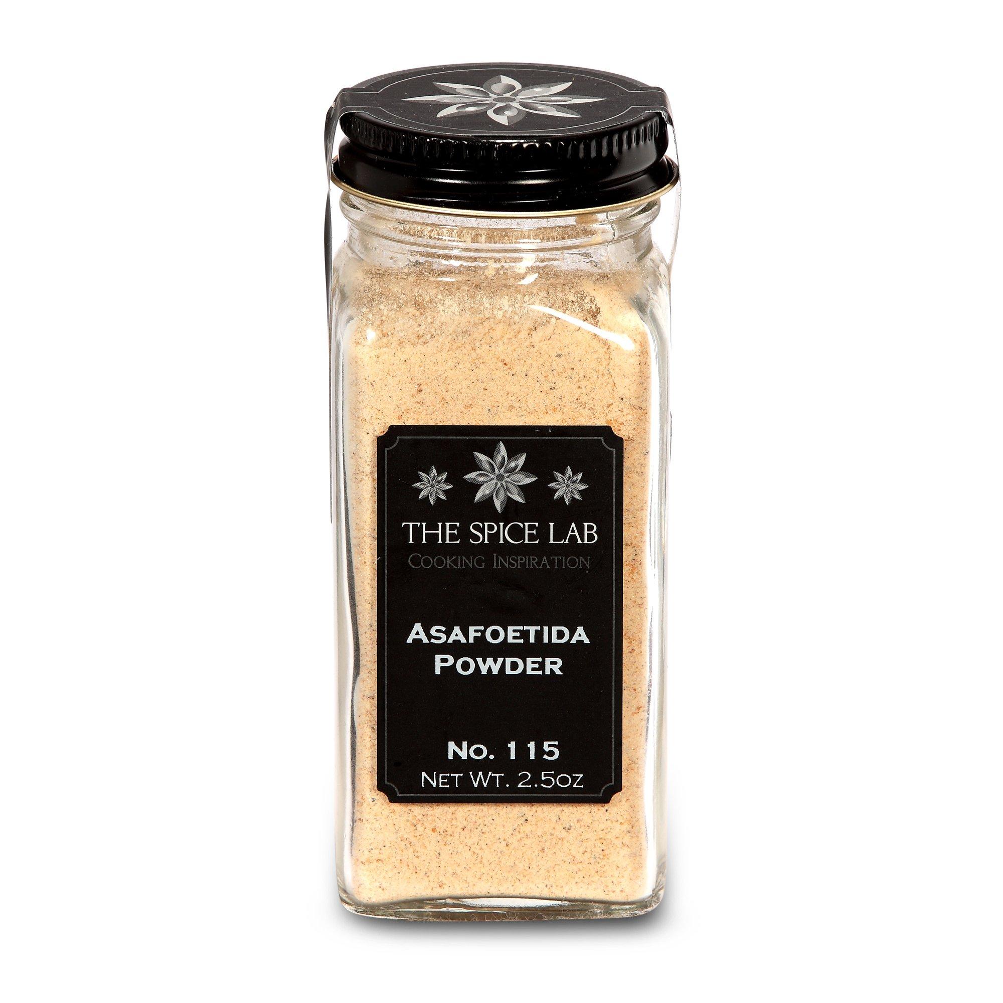 The Spice Lab No. 115 - Asafoetida Powder - Kosher Non-GMO All Natural Spice - French Jar