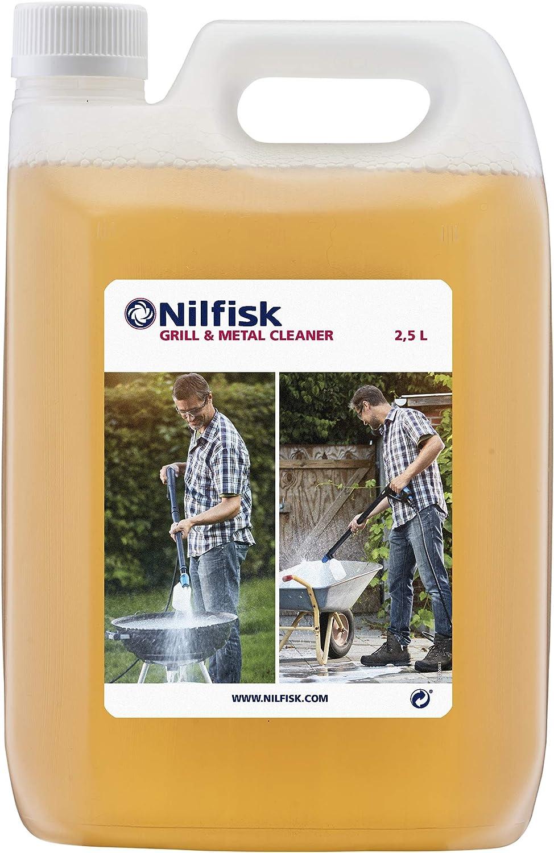 Nilfisk 125300393 Detergente para Parrillas y Metales, Limpiador Universal para hidrolimpiadoras, 0 V, Blanco