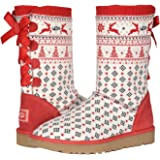 UGG Zappos 20th x Holiday Sweater Boot Ribbon Red