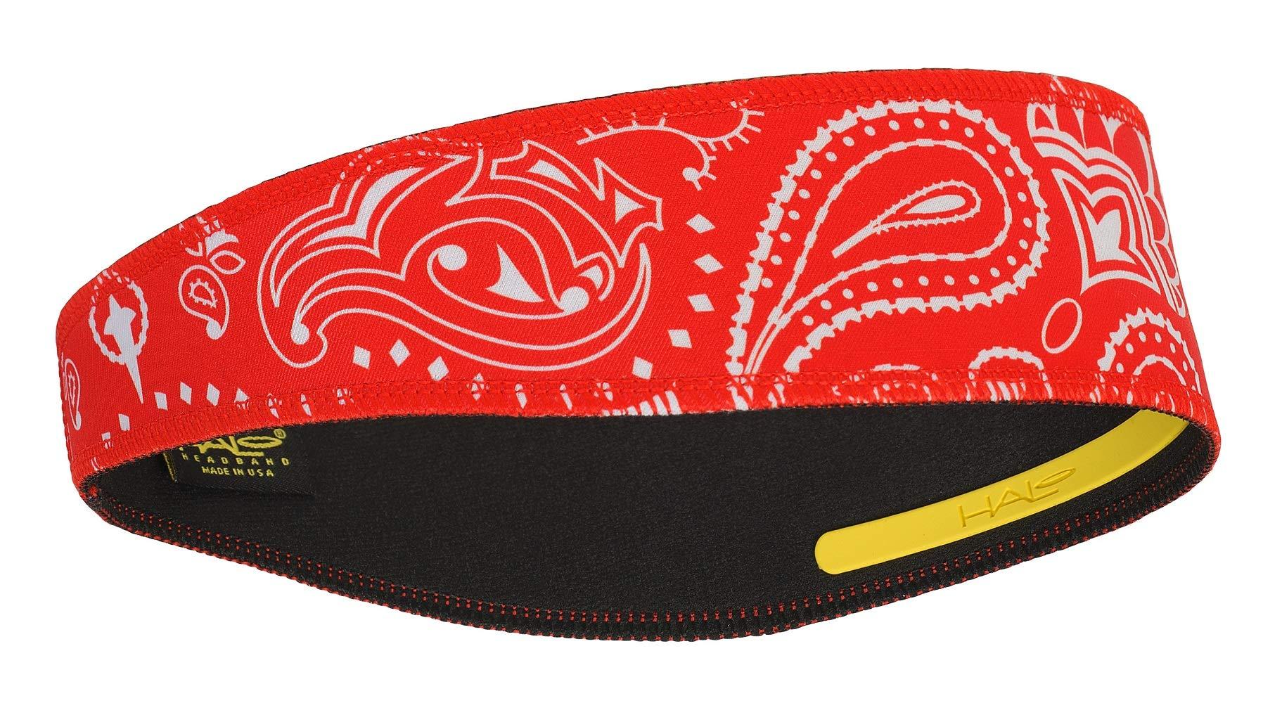 Halo II Headband Sweatband Pullover Paisley Red by Halo Headbands