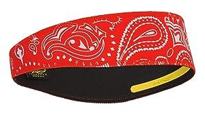 Halo II Headband Sweatband Pullover Paisley Red