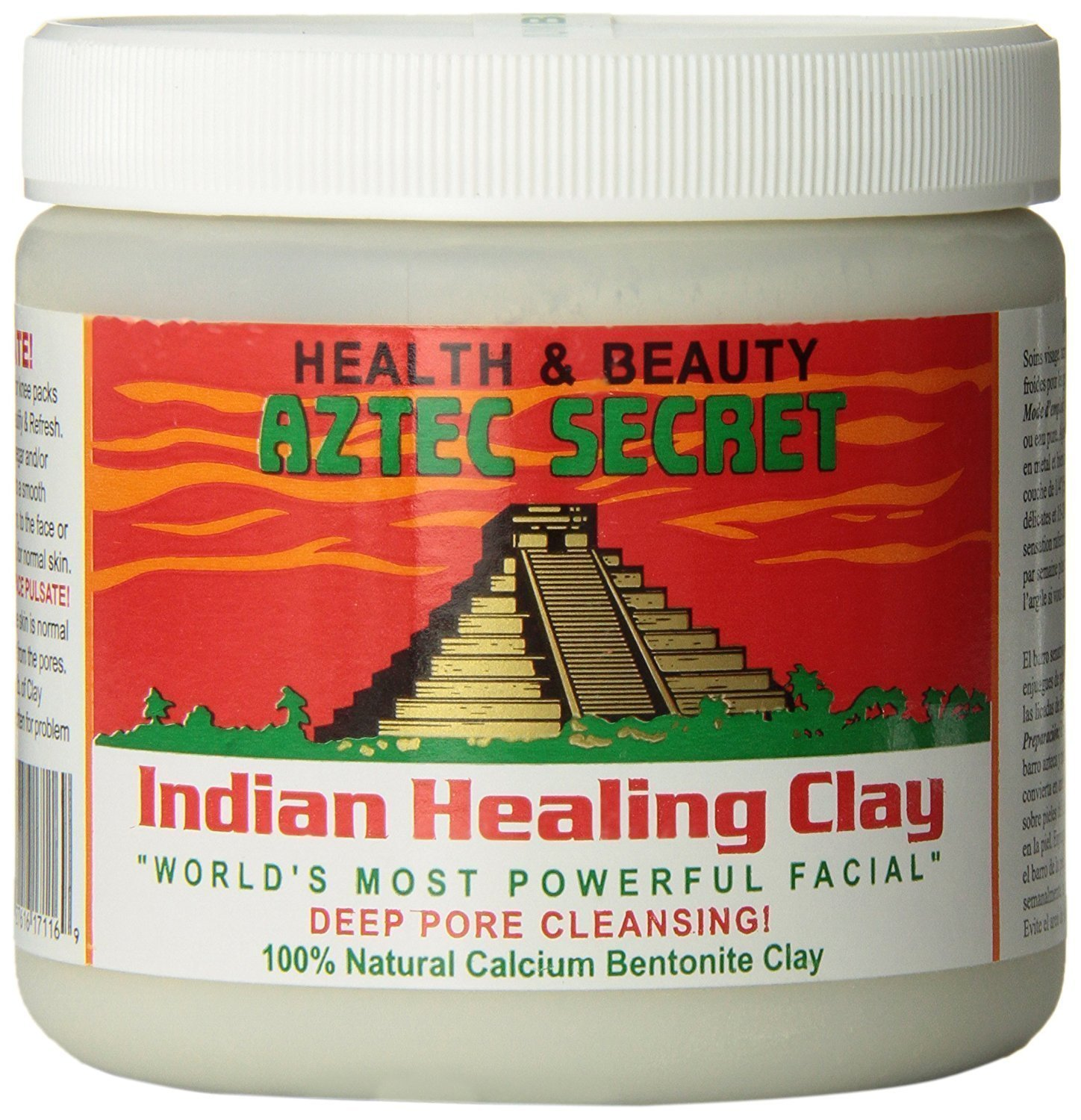 Aztec Secret   Indian Healing Clay   1 Lb. | Deep Pore Cleansing Facial & Healing Body Mask | The Original 100 Percents Natural Calcium Bentonite Clay by Aztec Secret