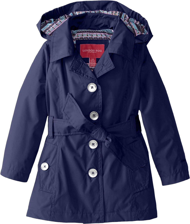 London Fog Girls Single Breasted Trench Coat