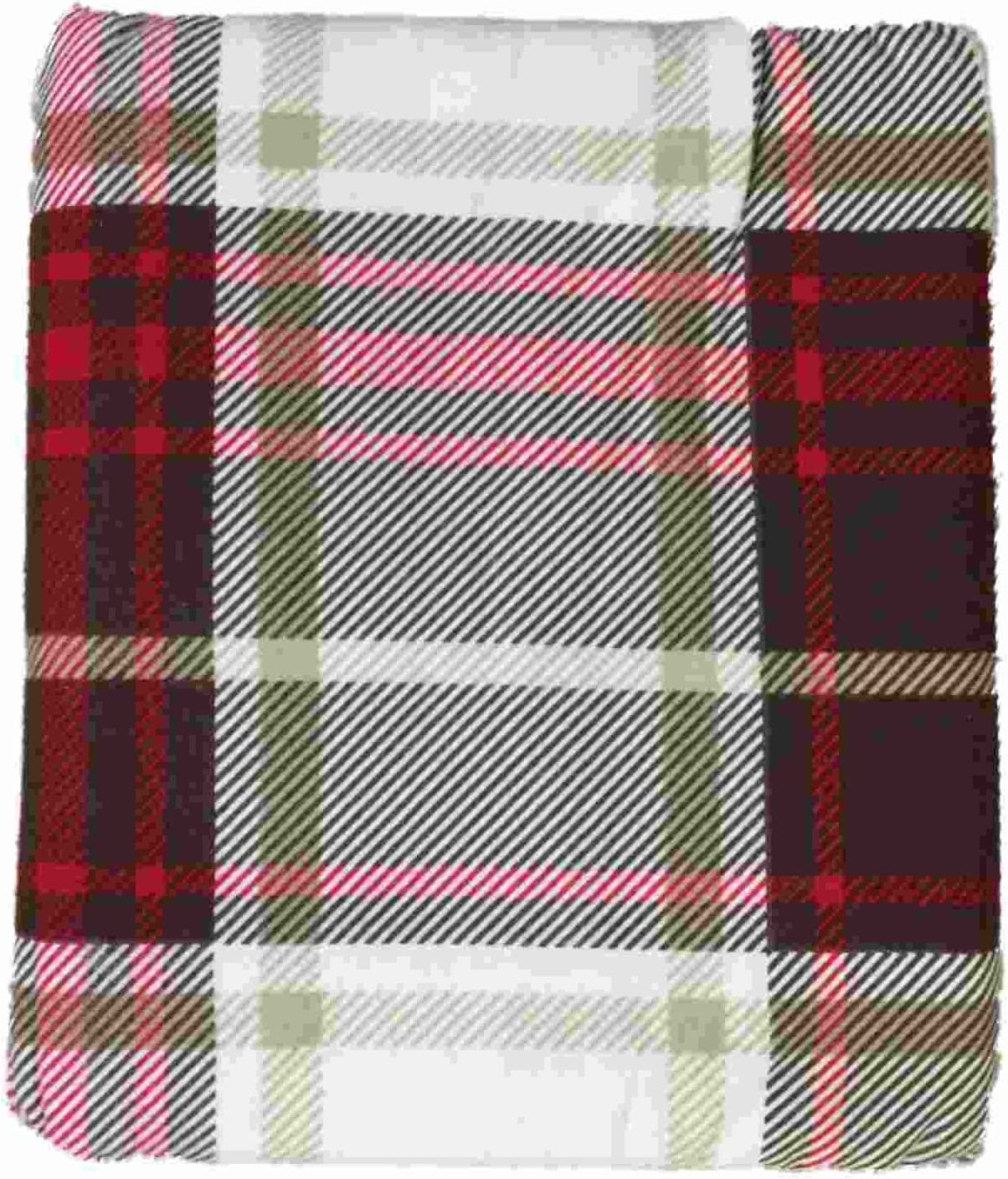 Amazon Com Hd Heavyweight Brown Red Plaid Flannel Sheet Set Queen Bed Sheets Bedding Home Kitchen