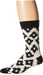 Happy Socks Mens Unisex Combed Cotton Crew Lily (Pack of 1), White/