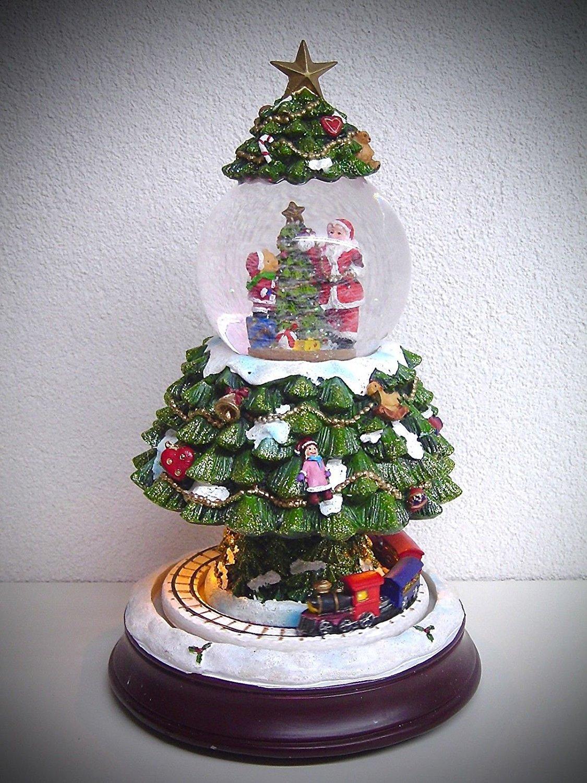 Unbekannt Schneekugel Tannenbaum Tannenbaum Tannenbaum mit Musik LED Beleuchtung fahrendem Zug 87ea7e