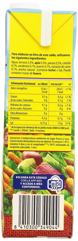 Gallina Blanca Caldo Casero de Carne, 100% natural - 1 l: Amazon ...