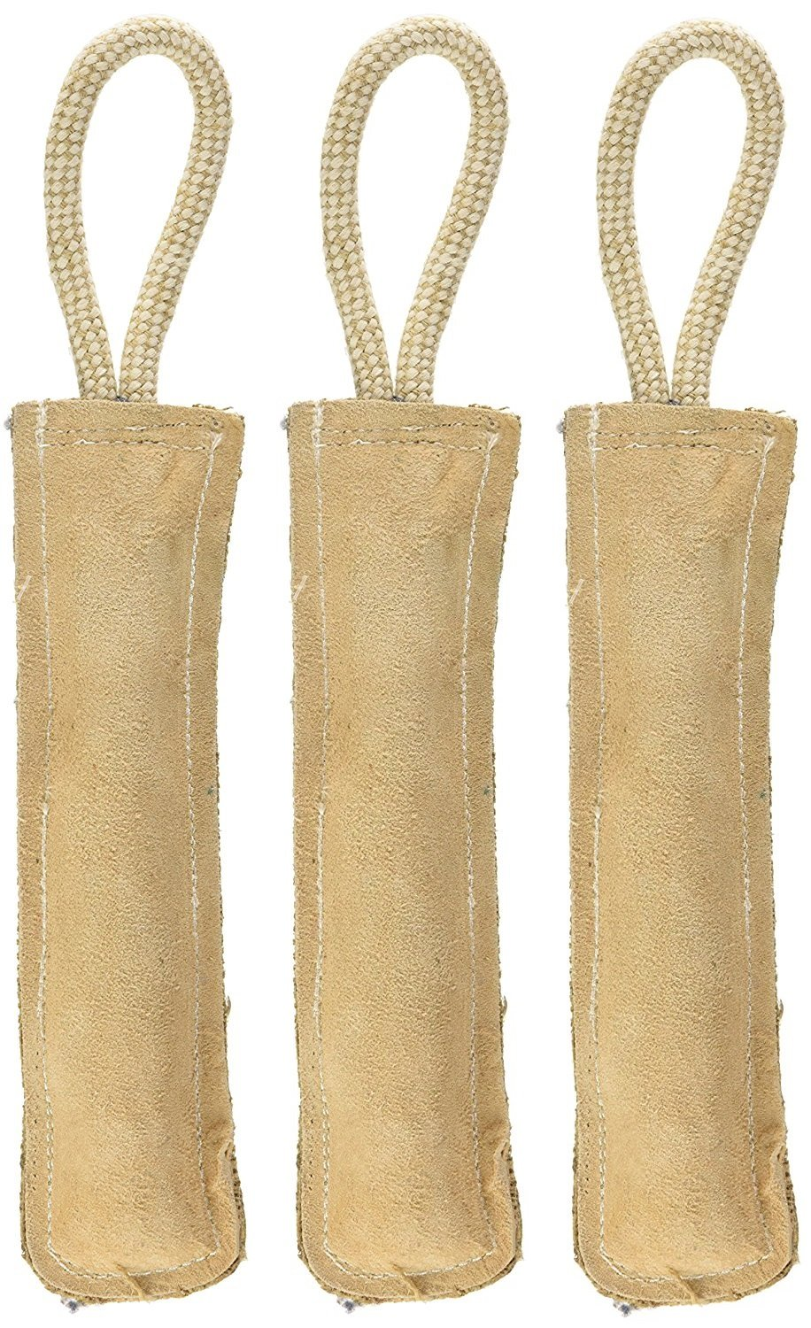 (3 Pack) Ethical Pets Dura Fused Leather Retriever Dog Toy, 15-Inch