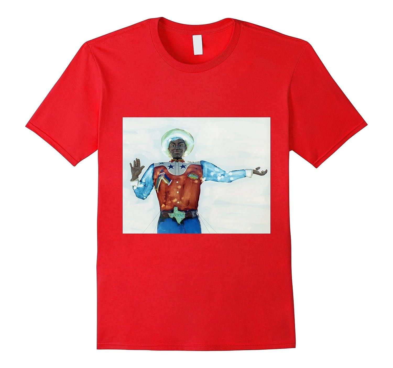 Howdy Big Tex State Fair Texas Painted Negative-T-Shirt