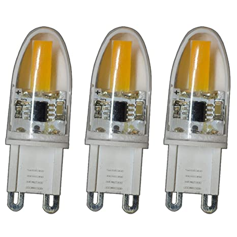 Bombilla de bajo consumo, 3unidades, G9mini COB LED, 2