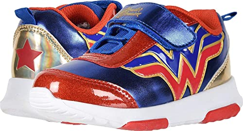 authentic newest style search for original Wonder Woman Girl's Athletic Shoes with Premium Lights (Toddler/Little Kid)  Blue